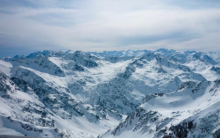 Stubaier Gletscher - Blick ins Ötztal
