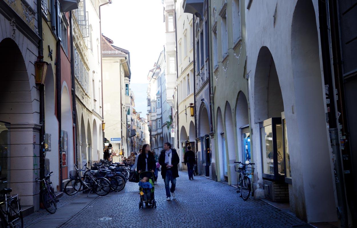 Lauben - Shopping in Bozen