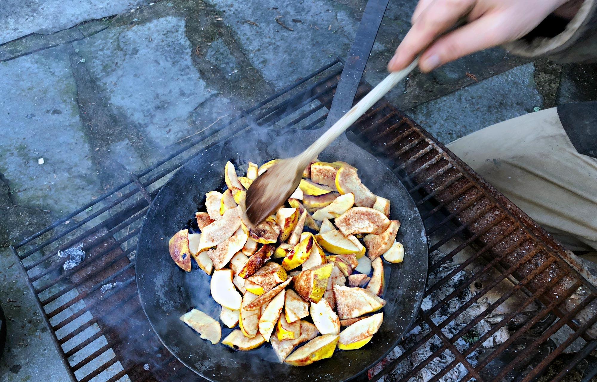 Rezept Quittenschnitze in der Outdoorküche
